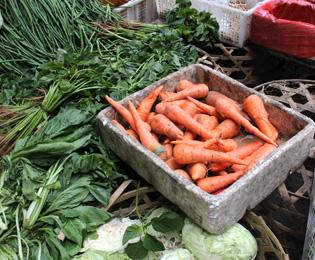 バリの野菜の画像