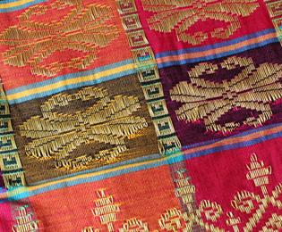 格子模様の布の画像