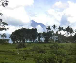 アグン山の画像